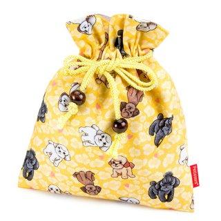 巾着 ポーチ KK-121Y トイプードル Toy Poodle レモンイエロー