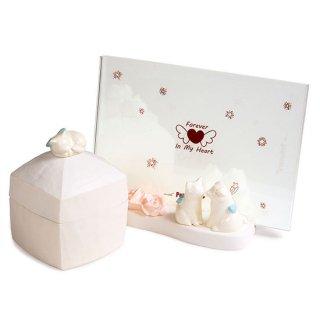 ペット メモリアル ボックス フレーム セット 形見箱 写真立 天使の猫 エンジェルキャット