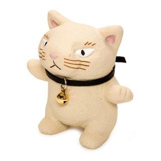 動物もん 白猫 ネコ インテリア 置物 KD-1006