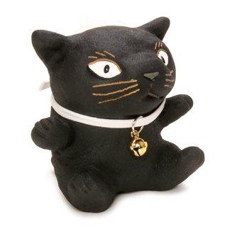 動物もん 黒猫 ネコ インテリア 置物 KD-1005