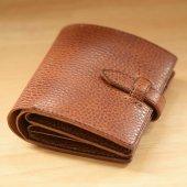 二つ折り本革財布(天然皮革)  (ショートウォレット)type1