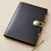 ROHDIA用 手帳カバー ブッテーロ革製 ペンホルダー、内側ポケット付