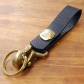 真鍮コンチョ付きキーホルダー