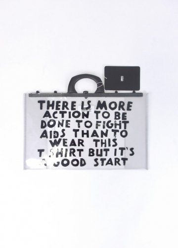 MM� <span>MM6 L19S-MM6-BG02S</span>AIDS CHARITY PVC BAG CLEAR