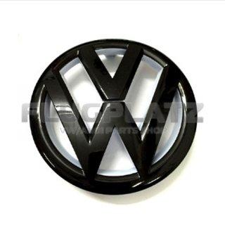 VWエンブレム フロント (グロスブラック&ホワイト) /ゴルフ6