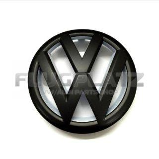 VWエンブレム フロント (マットブラック&ホワイト) /ゴルフ6
