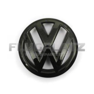 VWエンブレム フロント (グロスブラック) /ポロ6R ポロ6C