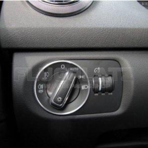 ヘッドライトスイッチ アルミリング /AUDI A1 A3 Q3 R8 TT