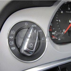 ヘッドライトスイッチ アルミリング /AUDI A6 Q7
