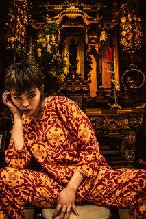 LOCO MOSQUITO/神社トライバル_セットアップ_RED x YELLOW