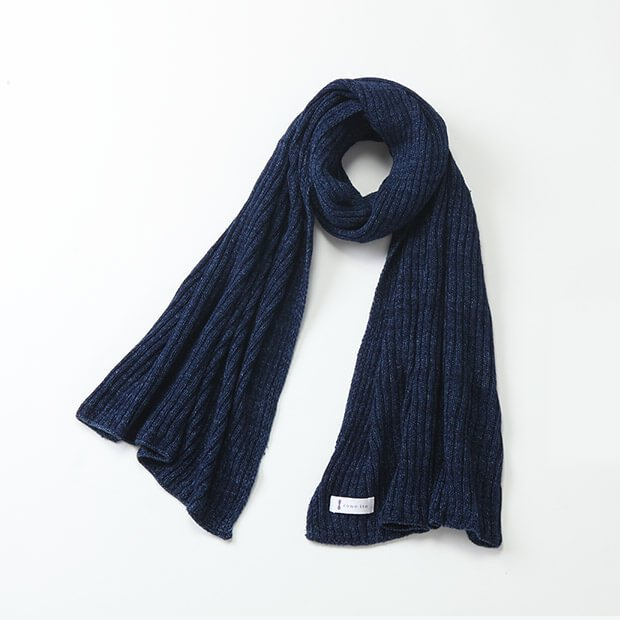 リブ編みストール