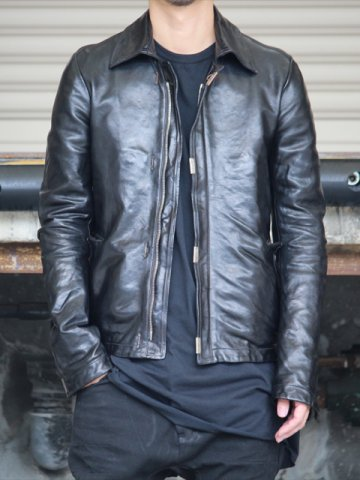 SCARSTITCHED LEATHER JACKET