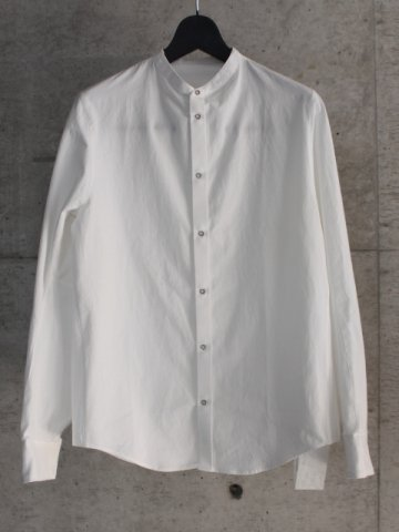 stand collor shirt L/S