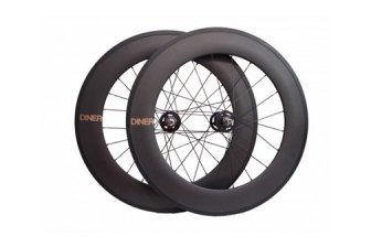 ピストバイク ハンドル Diner Carbon 88mm F & R Clincher Wheel Set