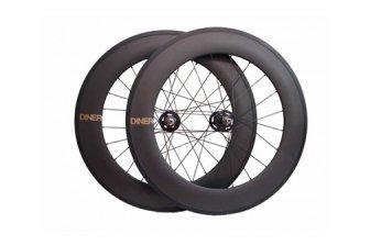 ピストバイク ハンドル Diner Carbon 88mm F & R Clincher Wheel Set