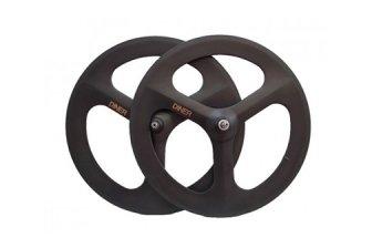 ピストバイク ハンドル Diner Carbon 3spoke F & R Clincher Wheel Set