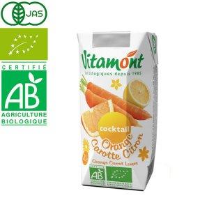 ヴィタモント オレンジ・キャロット&レモンジュース 200ml