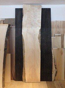 栃 一枚板 杢 カウンターサイズ 天板
