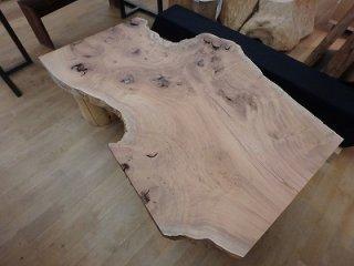 欅 一枚板 ローテーブル 天板 特殊杢