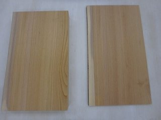ケヤキ 一枚板 柾 2枚セット 【送料無料】