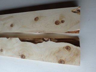 高野槇 一枚板 棚板 節あり 2枚セット
