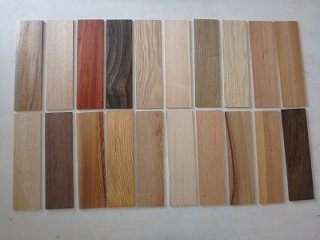 天然木diyタイル 無垢 一枚板 材木 10樹種 10枚セット 【送料無料】