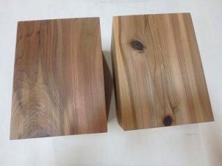 天杉 太い 角材 台 無垢 2個セット