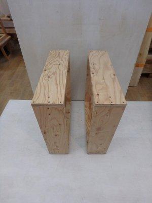 ラーチ合板のテーブル脚
