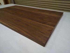 ブラックウォルナット 無垢材 板接ぎ天板 オイル仕上げ済 天板のみ 1300×650×32 片面無地グレード 受注製作品 flexispot 対応可