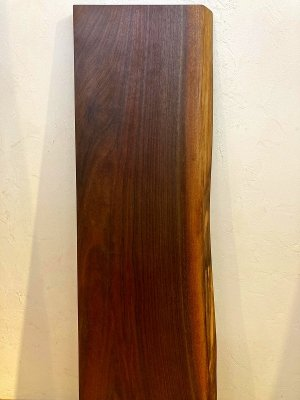 ブラックウォルナット 一枚板 片耳付き オイル塗装仕上げ