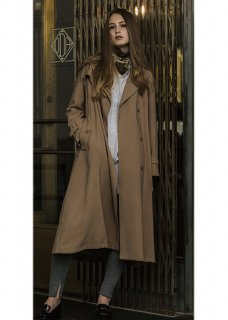 LONG DRAPE TRENCH