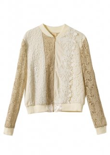 LACE SWITCHING BLOUSON