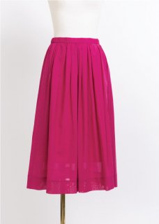 CLEAR BOYLE MIDI LENGTH SKIRT