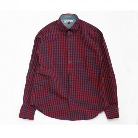PANCAKE BUTTON DOWN CHECK SHIRTS RED