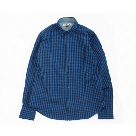 PANCAKE BUTTON DOWN CHECK SHIRTS BLUE
