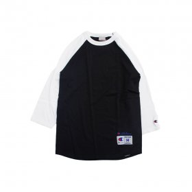 W-BASE CURVED OG LOGO RAGLAN TEE BLACK