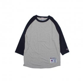 W-BASE CURVED OG LOGO RAGLAN TEE NAVY