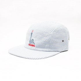 CHANNEL CAP CO STANDARD SEERSUCKER LIBERTY CAP BLUE STRIPE