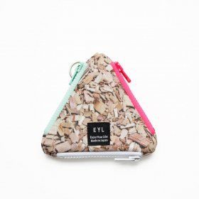 EYL - COIN CASE - WOOD CHIPS
