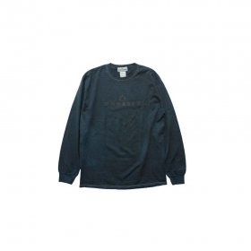 MODESTY INDUSTRY OVER DYE LONG SLEEVE TEE BLACK