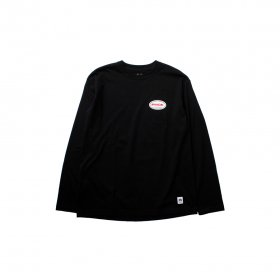 PANCAKE ACTIVE LOGO LONG SLEEVE TEE BLACK