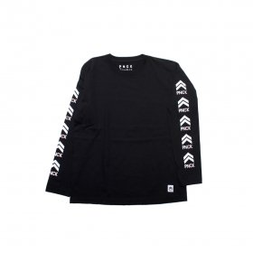 PANCAKE ICON LONG SLEEVE TEE BLACK
