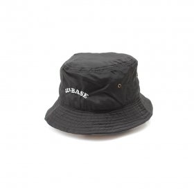 W-BASE ARCH LOGO POLYESTER BUCKET HAT BLACK