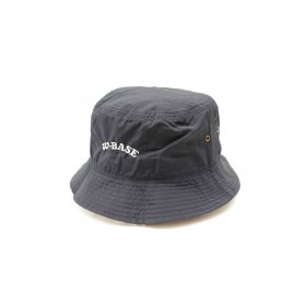 W-BASE ARCH LOGO POLYESTER BUCKET HAT NAVY