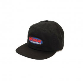 W-BASE OVAL LOGO 6PANNEL CAP BLACK
