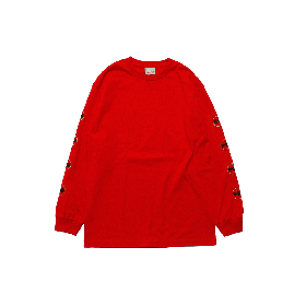 W-BASE WORLD LOGO LONG SLEEVE TEE RED
