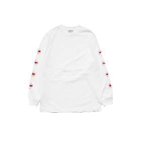 W-BASE WORLD LOGO LONG SLEEVE TEE WHITE
