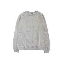 W-BASE SMALL LIGHTNING LOGO CREW NECK GREY
