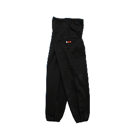 W-BASE PROJECT LOGO SWEAT PANTS BLACK