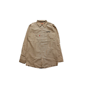 W-BASE ARCH LOGO WORK SHIRTS BEIGE